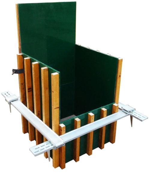 覆塑膜平模板安装效果