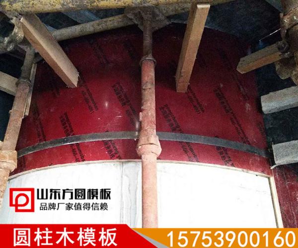 【创新】建筑圆柱木模板梁柱节点支模施工方案