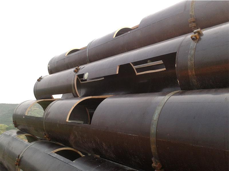 混凝土圆柱木模板建筑施工方案及不同直径圆柱体的加固施工间距