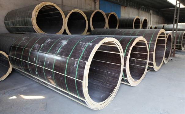 圆柱木模板存储