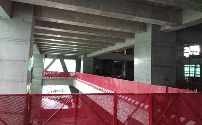 深圳福田采用木制圆柱子模板和方柱模板项目