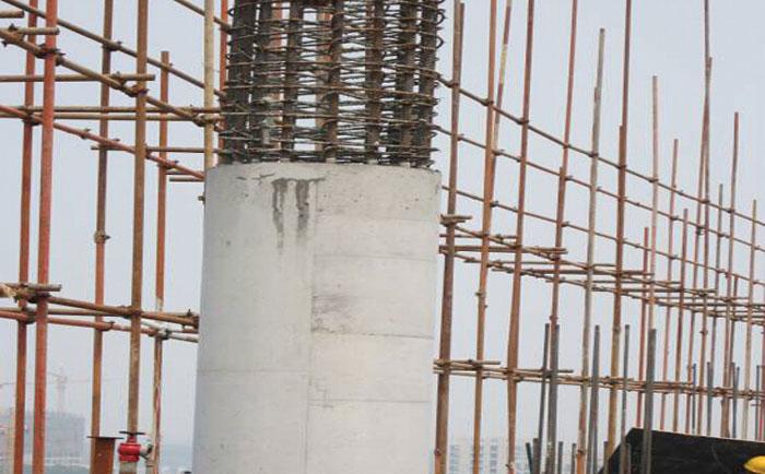 圆筒混凝土模板按圆柱子直径和高度浇筑施工