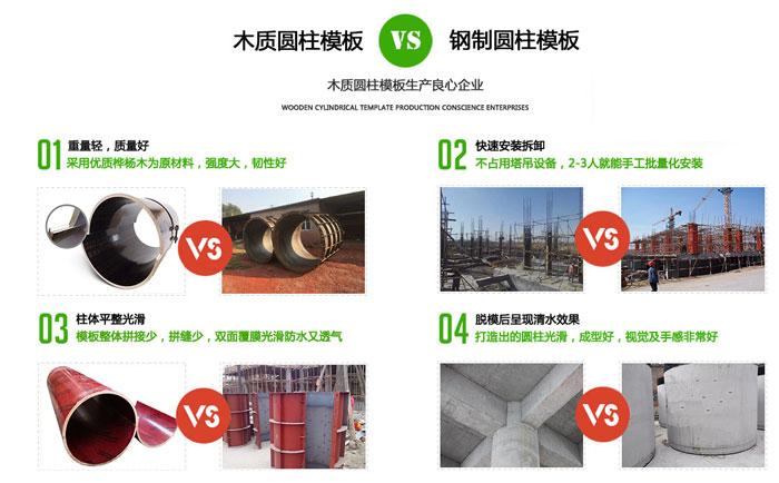 支模混凝土圆柱体选什么模板 木质圆柱体模板的施工技巧