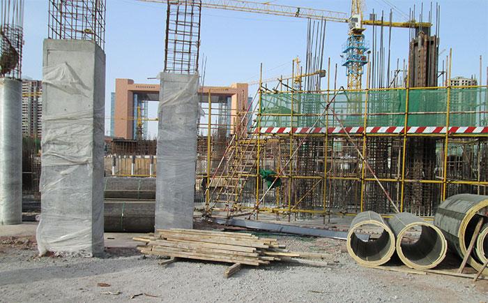 方圆清水圆模板缩短圆柱子支模工期 清水板圆柱体成型