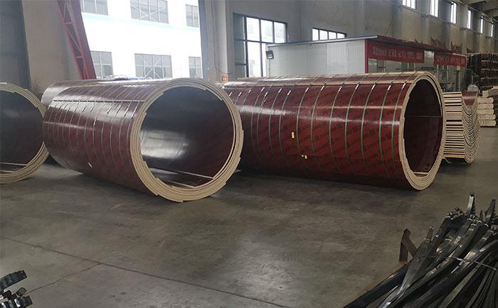 嘉兴圆柱模板采用木质圆模板 重量轻比钢模板更便捷